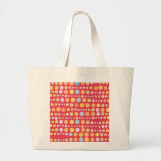 Traveling Dots 3 Large Tote Bag