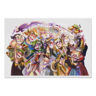 Traveling Fantasy Friends Poster