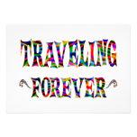 Traveling Forever Custom Invites