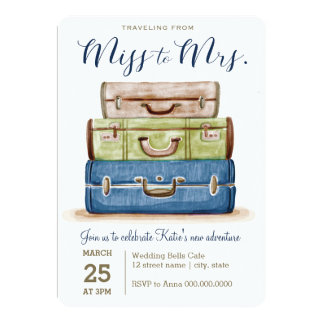 Traveling from Miss to Mrs. Shower Invitation