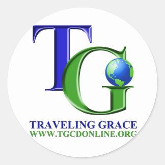 Traveling Grace Gear Classic Round Sticker