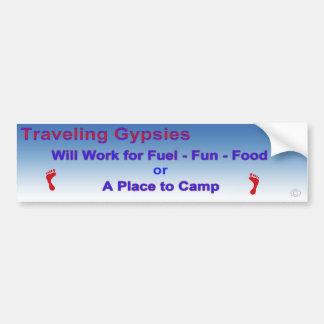 Traveling Gypsies Bumper Sticker