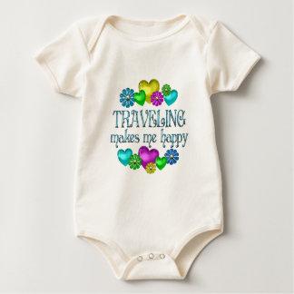 Traveling Happiness Baby Bodysuit