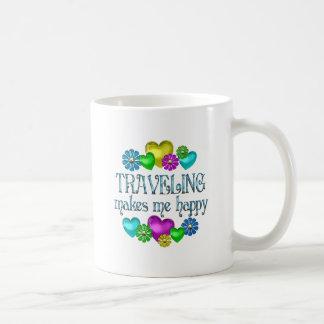 Traveling Happiness Classic White Coffee Mug