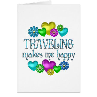 Traveling Happiness Greeting Card