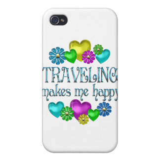 Traveling Happiness iPhone 4/4S Covers