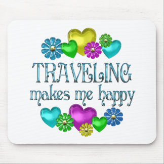 Traveling Happiness Mouse Pad