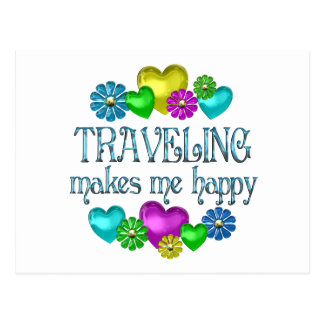 Traveling Happiness Postcard