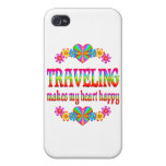 Traveling Heart Happy Covers For iPhone 4