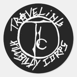 Traveling Hillbilly Corps LOGO Classic Round Sticker