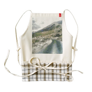 Traveling in the mountains zazzle HEART apron