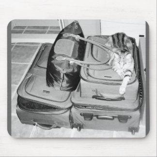 Traveling Indigo Pencil Mouse Pad