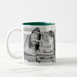 Traveling Indigo Pencil Two-Tone Coffee Mug