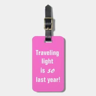 Traveling light bag tags