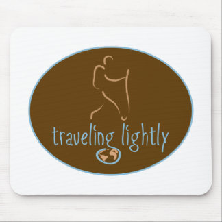 Traveling Lightly-Wanderlust Mouse Pad