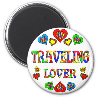 Traveling Lover 2 Inch Round Magnet