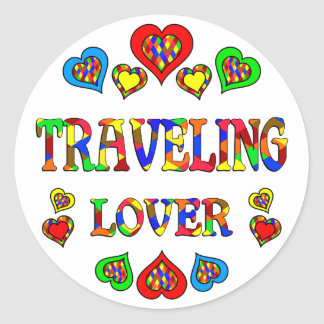 Traveling Lover Classic Round Sticker