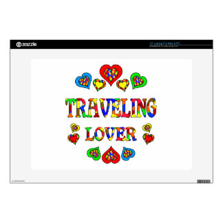 "Traveling Lover Decal For 15"" Laptop"