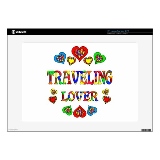 """Traveling Lover Decal For 15"""" Laptop"""