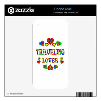 Traveling Lover iPhone 4 Skin
