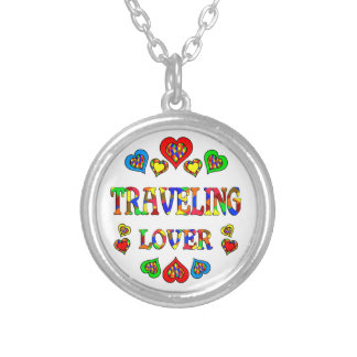 Traveling Lover Round Pendant Necklace