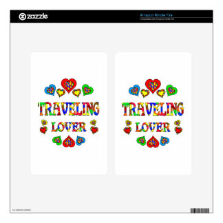 Traveling Lover Skin For Kindle Fire