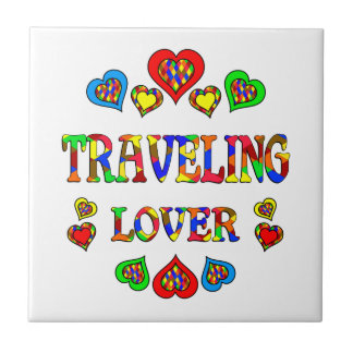 Traveling Lover Small Square Tile