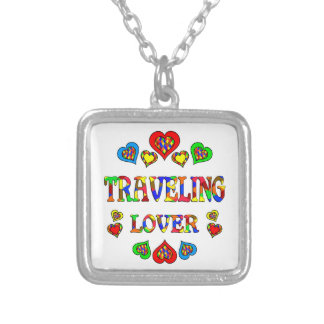 Traveling Lover Square Pendant Necklace
