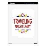 Traveling Makes Life Happy iPad 3 Skins