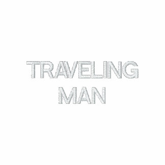 TRAVELING MAN EMBROIDERED HOODED SWEATSHIRTS