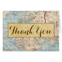 Traveling Map Matching Thank You Card