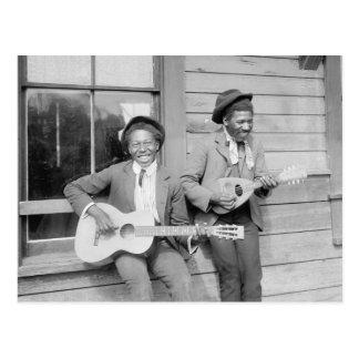 Traveling Musicians, 1902 Postcard