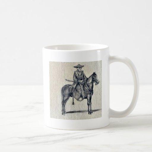 Traveling on horseback Ukiyo-e. Mug