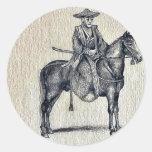 Traveling on horseback Ukiyo-e. Sticker