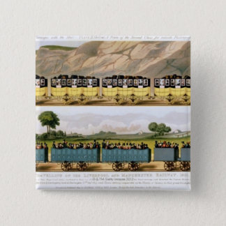 Traveling on the Liverpool and Manchester 2 Pinback Button