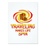 """Traveling Spins 5"""" X 7"""" Invitation Card"""