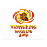 Traveling Spins Postcard