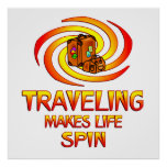 Traveling Spins Posters
