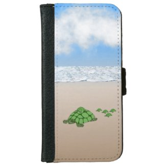 Traveling Terrapin Family iPhone Wallet Case