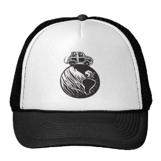 Traveling the world trucker hat