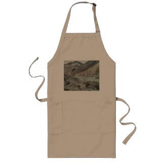 Traveling through rough mountainous terrain long apron