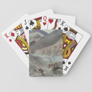 Traveling through rough mountainous terrain playing cards