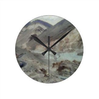 Traveling through rough mountainous terrain round clock
