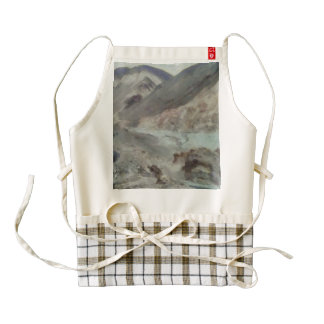 Traveling through rough mountainous terrain zazzle HEART apron