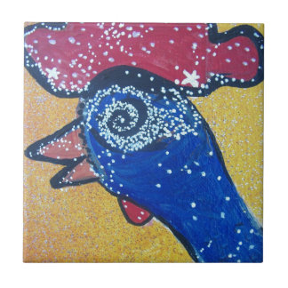 Traveling to the Chicken head galaxy Ceramic Tile