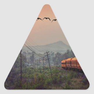 Traveling Triangle Sticker