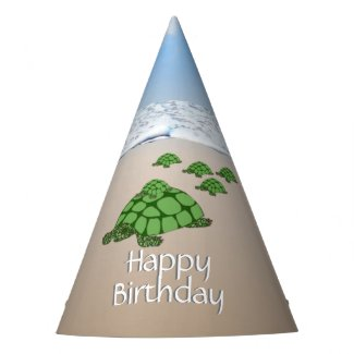 Traveling Turtle Family Birthday Party Hat