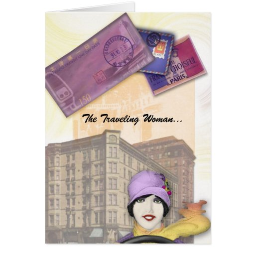Traveling Woman Series - Flapper Greeting Card