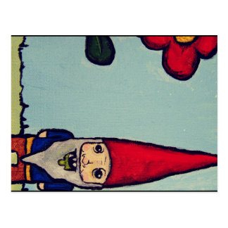 Traveling Zombie Gnome Post Card