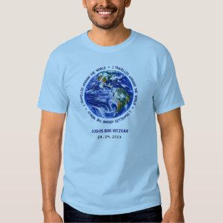 Travelled Around the World Bar Bat Mitzvah Shirt